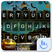 Live 3D Happy Halloween Keyboard Theme
