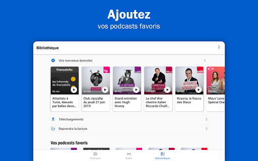 Radio France - podcasts, direct radios 6.5.2 screenshots 14