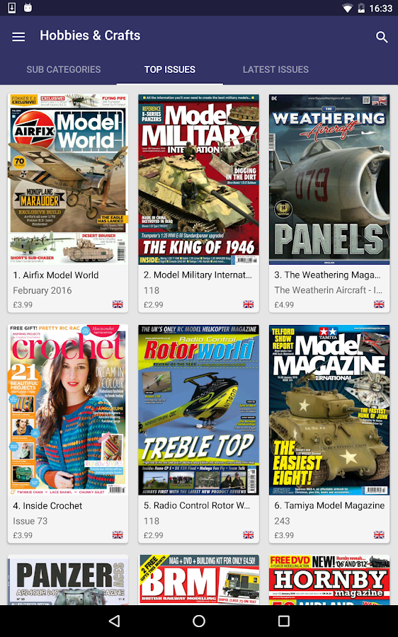Pocketmags Magazine Newsstand- screenshot