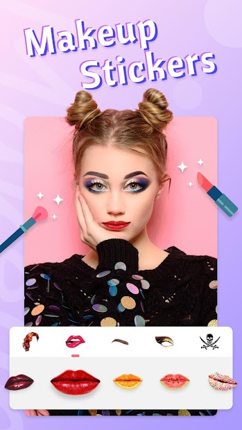 Fancy Photo Editor - Collage Sticker Makeup Camera Android App Screenshot