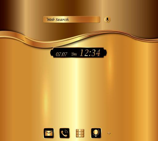 Gold +HOME Theme|玩個人化App免費|玩APPs