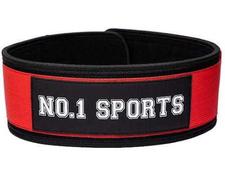 No.1 Sports Wod Belt Red - Medium