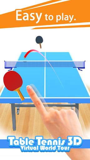 Table Tennis 3D Virtual World Tour Ping Pong Pro 1.2.3 screenshots 1