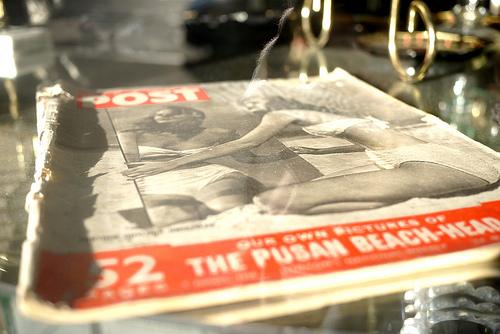 Photo: Magazine in a window