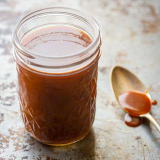 Salted Bourbon Caramel Sauce