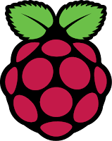 Logo for Raspberry Pi.