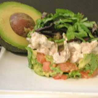 Avocado and Chicken Stack