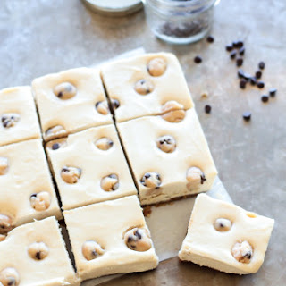 Vegan Chocolate Chip Cookie Dough Bars.