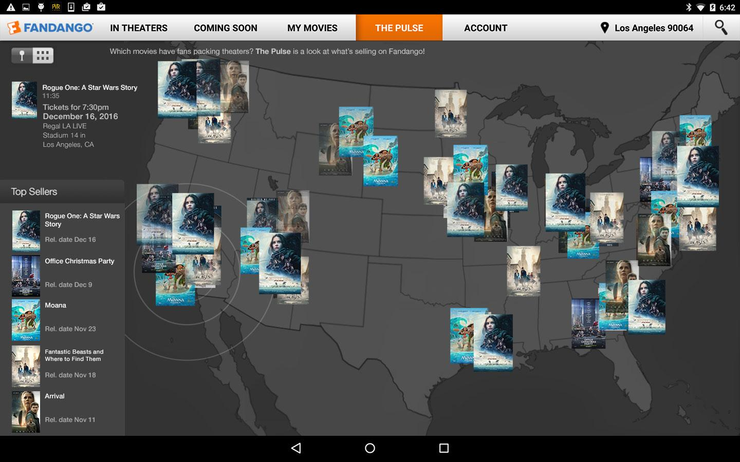 Fandango app updated with new design new rating system and more - Fandango Movies For Tablets Screenshot