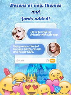 Ice Princess Keyboard Theme for Girls - náhled