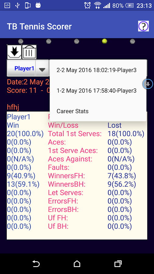 Table Tennis Match Scorer Free- screenshot