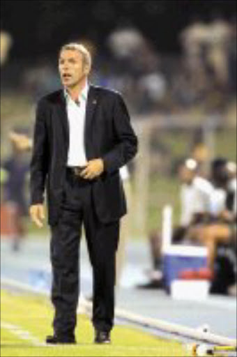WHAT NOW? Coach Ernst Middendorp might not survive the chop. Pic. Antonio Muchave. 04/03/07. © Sowetan.
