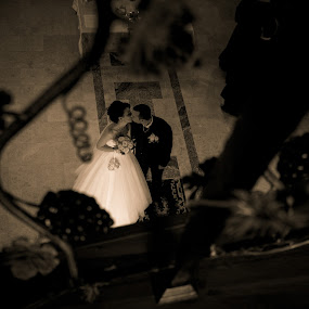 Framing the kiss by FIWAT Photography - Wedding Bride & Groom ( kissing, framed, bride and groom )