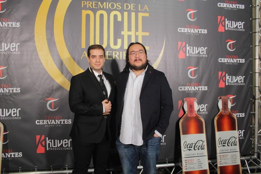 Invitados a la gala de los Premios de la Noche Almeriense, en el photocall.