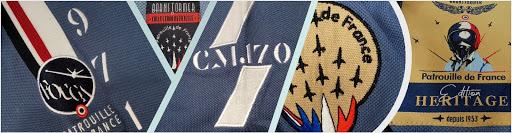 polo officielle patrouille de france collection bretelles et chevrons