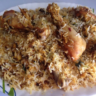 Hyderabadi Chicken Dum Biryani.