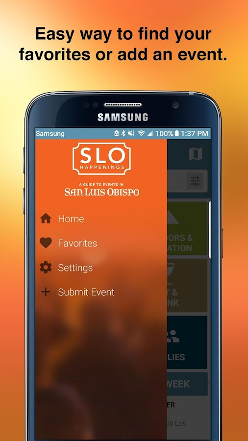 SLO HAPPENINGS – Events Calendar- screenshot