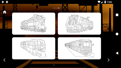 Trains Game Coloring Book 1.7 screenshots 10