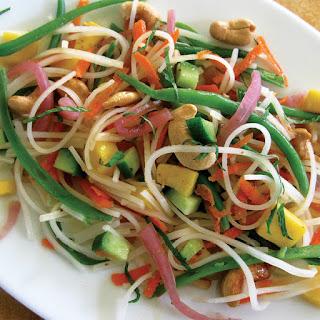 Coconut-Mango Rice Noodle Salad