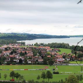 Füssen Germany by Ashley Rolland - City,  Street & Park  Vistas ( overlook, nature, city view, mountaintop view, füssen, lake, germany, hiking,  )