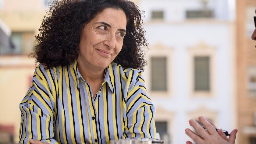 María del Mar Pageo, en un momento de la entrevista
