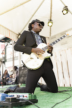Photo: Blood Orange takes the stage at the opening party.  Shop LA Style > http://bit.ly/XbGtM6