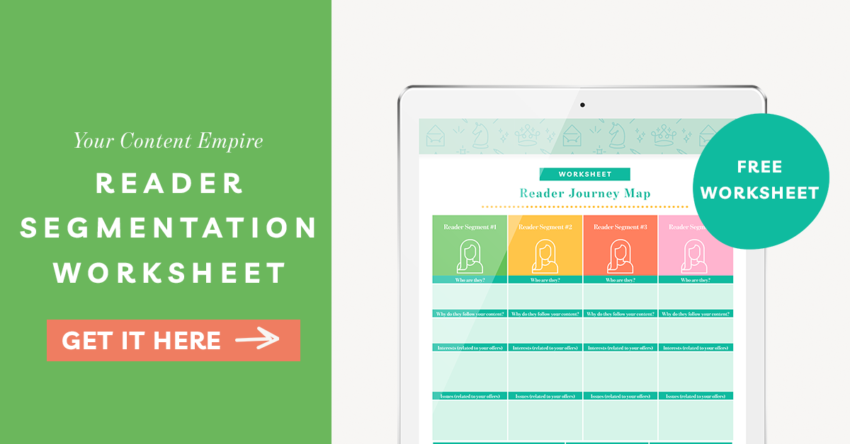 Freebie | Reader Segmentation Worksheet