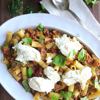 Sausage, Fennel, and Eggplant Rigatoni.