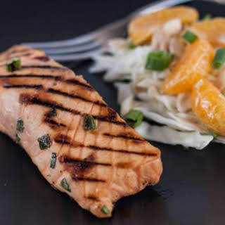Miso Marinated Grilled Salmon.