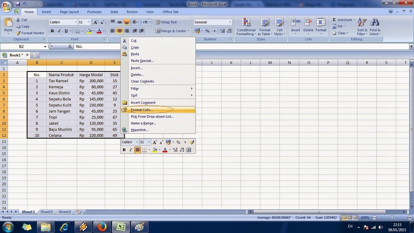 tutorial, belajar, cara, cepat, microsoft, excel