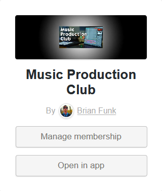 "Click the ""Manage membership"" button"