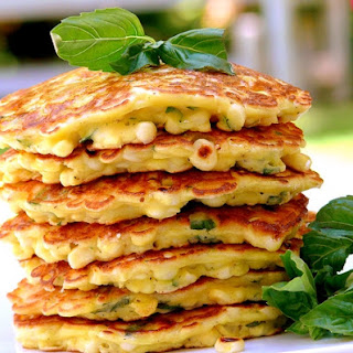 Corn and Basil Cakes.