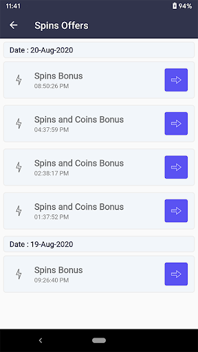 SpinLink - Spins and Coins Offers  screenshots 3