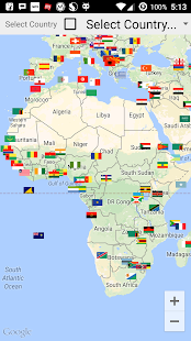 All Country Flags In Map screenshot
