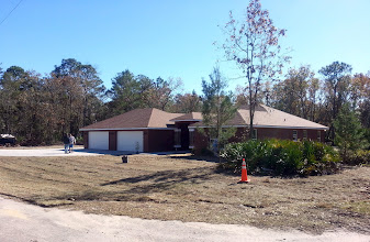 Photo: December 21, 2012 Most of the landscape work in front is complete.