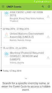 UNEP Events- screenshot thumbnail