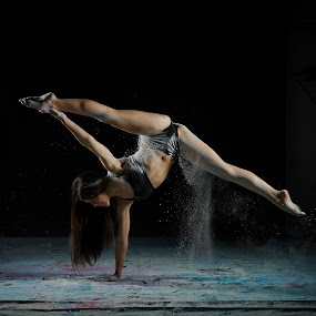 Inverted Paige by William Kendzierski - People Portraits of Women ( model, portrait photographers, portraits of women, high speed photography, fitness, acrobat, dance, dancer )