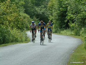 Photo: Up the mountain road for the annual Hill Climb at Mt. Ascutney State Park by Caitlin Vollmann