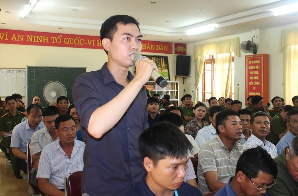 Nhiều ý kiến, kiến nghị của các cơ sở, người dân được chủ trì Hội nghị trả lời thấu đáo