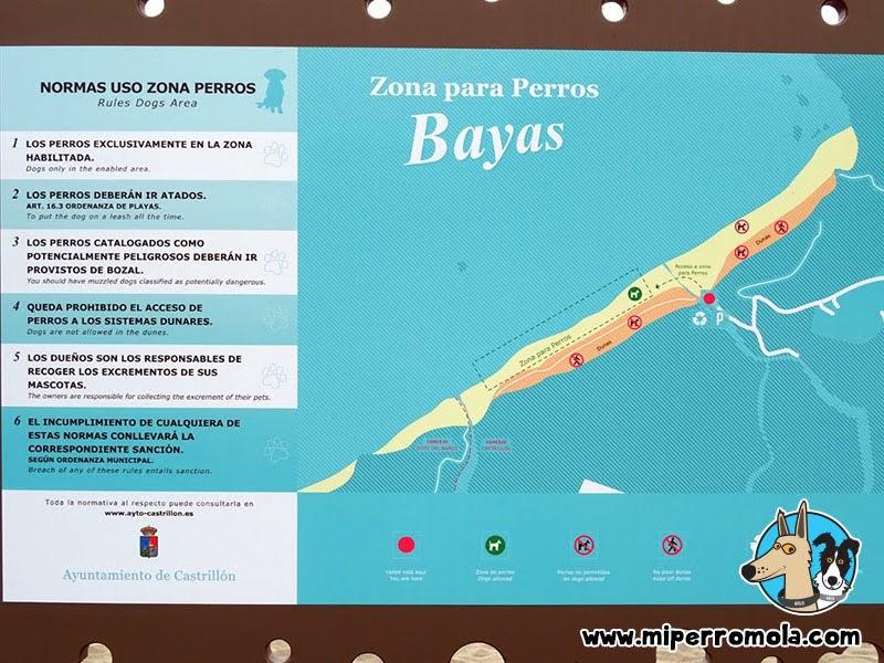 Cartel informativo Playón de Bayas