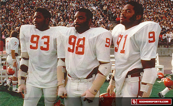 Photo: The Selmon brothers: Lee Roy (93), Lucious (98) and Dewey (91).