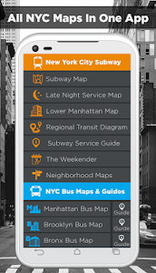 NYC Subway,Bus,Rail,Bike Maps screenshot 0