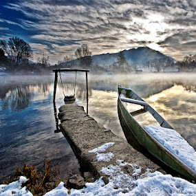 Adda river by Alberto Carati - Landscapes Waterscapes