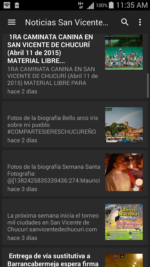 San Vicente de Chucurí- screenshot