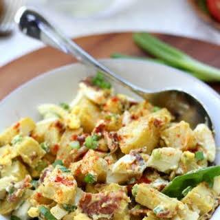 Paleo Sweet Potato Salad with Bacon and Eggs.
