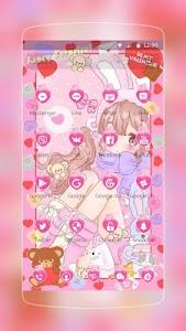 Pink Cute Girl Love screenshot 1