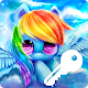 Miles Attractive Pony Rainbow Wallpaper Smart Lock for PC-Windows 7,8,10 and Mac