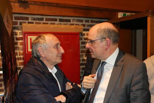 Onze burgemeester Michel Doomst en minister Koen Geens.
