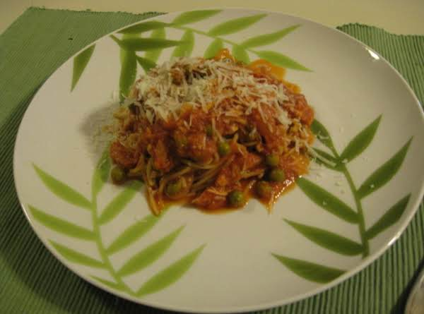 Tuna And Peas With Whole Wheat Spagetti Recipe