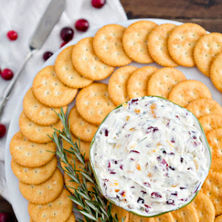 Cranberry Rosemary Cheese Spread.